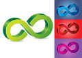 Infinity symbol vector illustration in different colors Royalty Free Stock Photo