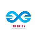 Infinity - vector logo template concept illustration. Abstract shape creative sign. Design element Royalty Free Stock Photo