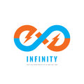 Infinity - vector logo template concept illustration. Abstract shape creative sign and electric ligthning symbol. Design element Royalty Free Stock Photo