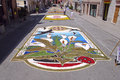 Infiorata of Castelraimondo Stock Photography