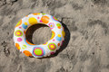 Inflatable beach ring Royalty Free Stock Photo