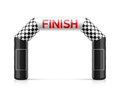 Inflatable finish line arch