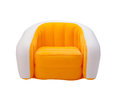 Inflatable orange color armchair Royalty Free Stock Images