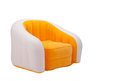 Inflatable orange color armchair Royalty Free Stock Photo