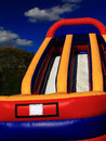 Inflatable playset huge children for big events vertical view Stock Photos