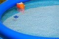 Inflatable swimming pool an outdoor Stock Photo
