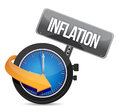 Inflation concept illustration design over a white background Stock Image