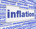 Inflation message conceptual design Royalty Free Stock Photo