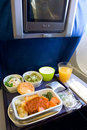 Inflight Meal Royalty Free Stock Photography