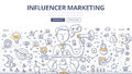 Influencer Marketing Doodle Concept Royalty Free Stock Photo