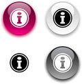 Info button. Royalty Free Stock Photos