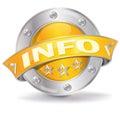 Info button Royalty Free Stock Photo