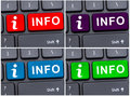 Info button on laptop keypad Royalty Free Stock Photo