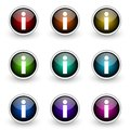 Info button set Stock Photo