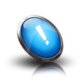 Info button three dimensional circle with sign Royalty Free Stock Photo