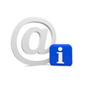 Info email mail with an sign Royalty Free Stock Images