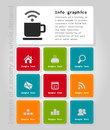 Info graphic company on a theme the internet business a vector illustration Stock Image