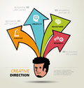 Info graphic design ways business direction and template creative Royalty Free Stock Photo