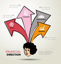 Info graphic design ways business direction and template financial Stock Photo