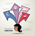 Info graphic design ways business direction and template strategy Stock Images
