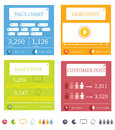 Info graphic elements abstract website or media print tabs Stock Photography