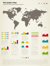 Info graphic map set of of a drawing for design a vector illustration Royalty Free Stock Image