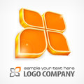 Info graphic text in orange color on white background illustration Stock Image