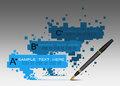 Info graphics design with pen on gray background in vector Royalty Free Stock Photography