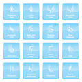 Info Symbols Blue Royalty Free Stock Images