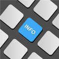 Info text on a button keyboard illustration Stock Images