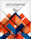 Infographic abstract background made of geometric shapes Royalty Free Stock Images