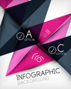 Infographic abstract background made of geometric shapes Royalty Free Stock Photos