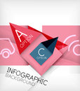 Infographic abstract background made of geometric shapes Royalty Free Stock Photo
