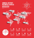 Infographic annual report Business world template design. Royalty Free Stock Photo