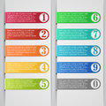Infographic banner modern number list Royalty Free Stock Images