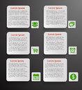 Infographic banners with icons on black background Royalty Free Stock Image