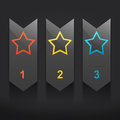 Infographic banners three step star Stock Photo