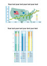 Infographic bar chart with text area infographics as a template Royalty Free Stock Photos