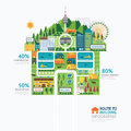 Infographic business building house shape template design route to success concept vector illustration graphic or web Stock Photo