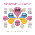 Infographic Business concept - abstract background - creative vector Illustration. Royalty Free Stock Photo