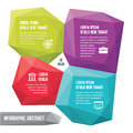 Infographic business concept abstract vector forms with icons for presentation Royalty Free Stock Images