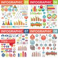 Infographic business design elements - vector illustration. Infograph template collection. Creative graphic set. Royalty Free Stock Photo