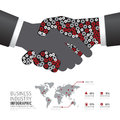 Infographic business industry gear handshake shape template desi Royalty Free Stock Photo