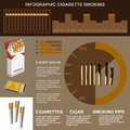 Infographic cigarette smoking, flat design, , template