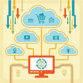 Infographic concept internet clouds with icons for your presentation web site etc Stock Photos