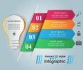 Infographic design. Bulb, Light icon.