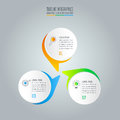 Infographic design business concept with 3 options.