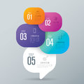 Infographic design and business icons with 5 options.