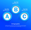 Infographic design circles blue color Royalty Free Stock Photos