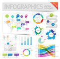 Infographic design elements vector saved as eps file contains objects transparency shadows etc Stock Image